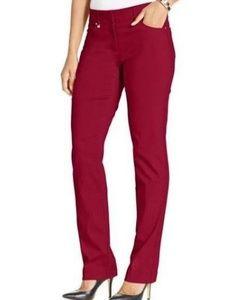 JM COLLECTION Red Curvy fit Pants 12P